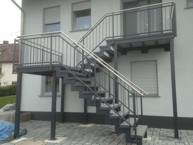 Außentreppe Stahl ap metalldesign leistungen service